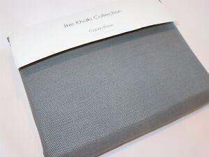 Calvin Klein Water Stripe Pebble Texture King Tailored Bedskirt Grey Navy