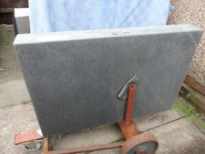 """Granite surface plate 36"""" x 24"""" 4 1/4"""" thick. With steel stand"""