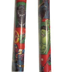 Marvel Avengers Holiday Wrapping Paper Black Panther Hulk 70 sq ft 1 roll