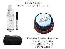 PanzerWood Record Weight Puck Clamp Plattengewicht 380g + Vinylreiniger SET TOP!
