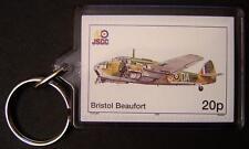 RAF BRISTOL BEAUFORT Type 152 Torpedo Bomber WWII Aircraft Stamp Keyring