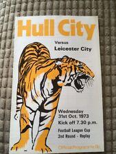 Football programme 1973 Hull City V Leicester City