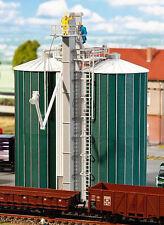 FALLER HO Scale 'double Silo' Plastic Model KITSET #120260