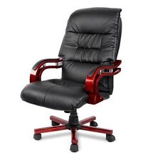 PU Leather High Back Office Computer Gaming Chair with Armrests and Wheels Black