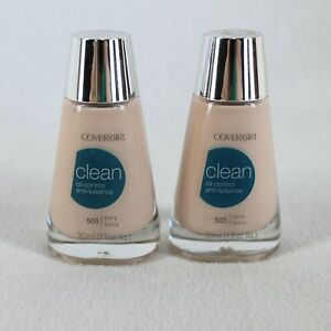 Covergirl Clean Oil Control Liquid Foundation 505 Ivory 1 fl oz Lot of 2