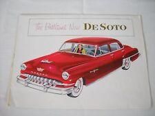 1952 Original DeSoto Sales Brochure Folder  De Soto Chrysler
