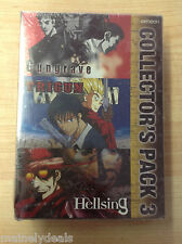 Gungrave Trigun Hellsing Collector's Pack 3 DVD Brand New Factory Sealed VOL 3