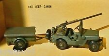 JEEP WILLYS CANON + REMORQUE SOLIDO MILITARY 1 6157 1/43 ARMEE NEW MILITAIRE