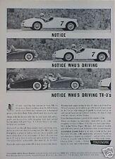 1961 TRIUMPH TR-3 TR-3's Convertibles Original Ad TR 3  CMY STORE  5+= FREE SHIP