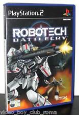 ROBOTECH BATTLECRY GIOCO USATO OTTIMO STATO SONY PS2 EDIZIONE ITALIANA PG808