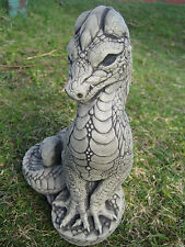 Standing dragon stone garden ornament