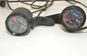 Pivot water and boost gauge set mini r56 mounts, 52X-BW and throttle control