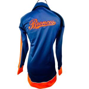 Vintage Rare 90's Reebok Women's Denver Broncos Full Zip  Jacket Size SM Petite