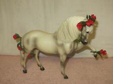 "Breyer White Prancer Horse - Parade - Flowers - 8.25"" tall x 11"" long"