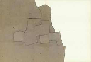 EDUARDO CHILLIDA Untitled 15 x 22 Lithograph 1975 Abstract