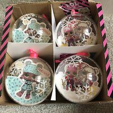 LOL Surprise Christmas Balls ,  Bauble Set Of 4
