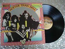 """KISS """"HOTTER THAN HELL"""" Vintage Vinyl LP Casablanca NBLP 7006 Filmworks Press"""