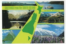 New Zealand Greetings From The South Island Postcard 090c