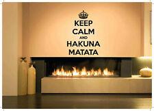 Gift Wall Vinyl Sticker Decals Mural Design Hakuna Matata Quote African #395
