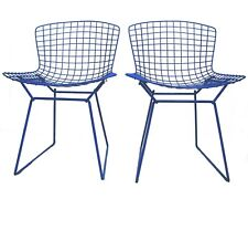Bertoia Blue Wire Rod Side Chair Set of 2 Designer Harry Bertoia Knoll Minnesota
