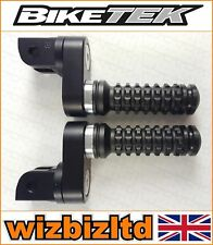 Biketek Black Adjustable Front Footpegs Honda VTR1000 Firestorm 1997-05 PEGADH11