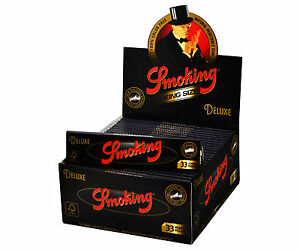 1 Box Smoking DELUXE King Size Papers 50 Heftchen x 33 Blättchen Long Papers