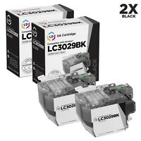 LD Compatible Brother LC3029BK Super High Yield Black Ink Cartridges 2-Pack