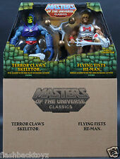2015 MOTU Terror Claws Skeletor & Flying Fists He-Man MOTUC Classics 2 Pack