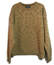RIALTO Mens Gents XL Trendy Frayed Style Jumper Heavy Pullover Sweater Winter