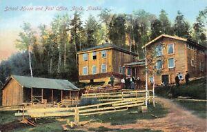 Postcard School House and Post Office in Anvik, Alaska~127794