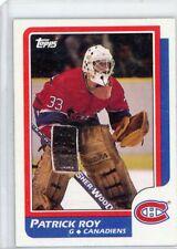 PATRICK ROY 1986-87 TOPPS HOCKEY #53 ROOKIE CANADIENS HOF RC