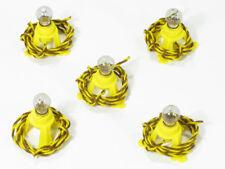 {B49/19} 5 socles d'éclairage avec ampoule 19V/60mA