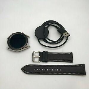 Samsung Galaxy Watch3 Cellular Mystic Silver 45mm w/ Black Leather Band 7/10
