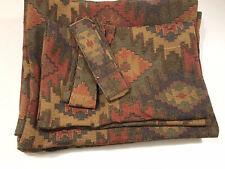 Set of Vintage Southwest Native Drapes Curtain 4 Panels 2 Valances 48x82 Fabric