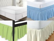 All Bed Skirt Poly Cotton Multi Size & Color 15 Inch Drop Length