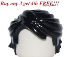 ☀️NEW Lego Minifig Hair Boy Male Female Girl Black Swept Back Tousled