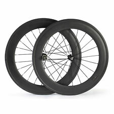 Carbon Wheels 88mm Road Bike Tubular Type 700C 23mm Front and Rear  Wheel