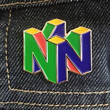 Nintendo 64 Pin Logo N64 Enamel Pin 90's Retro Video Game Lapel New