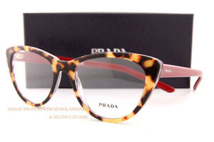 Brand New Prada Eyeglass Frames PR 05XV 514 Havana/Red Chess For  Women Size 53