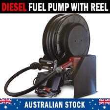NEW Diesel Fuel Hose Reel With Inbuilt Pumps And Inline Filter Auto Shut Off