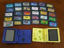 Nintendo 2 Game Boy Advance SP & 31 Games Lot, Sponge Bob,