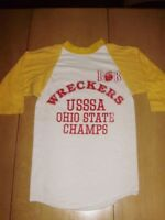 VINTAGE 1970's WRECKERS OHIO STATE CHAMPS BASEBALL SHIRT XS - Small
