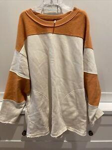 Free People Rugby Sweatshirt Tunic Top. Size Medium. Oversized