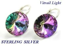 *STERLING SILVER * - 33 Colours - RIVOLI- Earrings Crystals from Swarovski®
