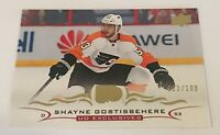 Shayne Gostisbehere /100 made UD Exclusives Insert Parallel Hockey Card 132