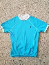 Size Large Specialized Women's Cycling Jersey Top Shirt Light Blue Pockets EUC