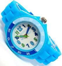 TIKKERS CHILDREN TIME TEACHER WHITE DIAL BLUE SILICONE RUBBER STRAP WATCH-NTK002