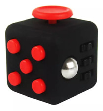 US Seller Dice Magic FIDGET CUBE Desk Toy Stress Anxiety Relief Focus Black Red