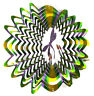 WorldaWhirl Whirligig 3D Dragonfly Wind Spinner Stainless Kinetic Garden Twister