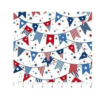 Patriotic Fabric - Sweet Land of Liberty Pendant Banner White - Northcott YARD